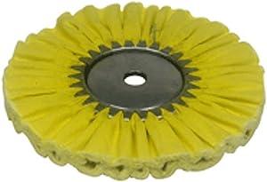 Zephyr AWY 58-10 FC4 Yellow 1 on 1 4 Fast Cut Airway Buffing wheel