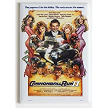 Cannonball Run 2 Movie Poster Fridge Magnet (2 x 3 inches)