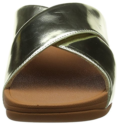 Slide Mirror Gold Cross Black 301 Sandalen Mirror Lulu FitFlop Damen Gold xIBSFF