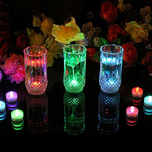 PK Green Underwater LED Lights   Set of 10 Battery Operated Colour Changing Submersible Tea Lights   Waterproof Flameless Candles for Hot Tub, Pool, Bath, Spa, Bowl, Centrepiece, Vase, Aquarium, Fish by PK Green (Image #2)