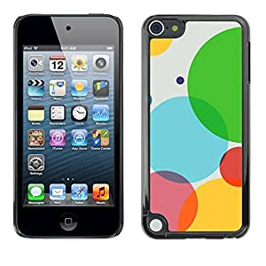 PC/Aluminum Funda Carcasa protectora para Apple iPod Touch 5 Color Bubbles / JUSTGO PHONE PROTECTOR