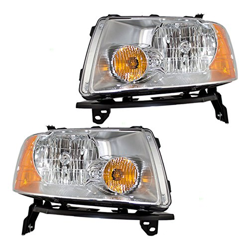 (Driver and Passenger Headlights Headlamps Replacement for Ford 6F9Z 13008 B 6F9Z 13008 A AutoAndArt)