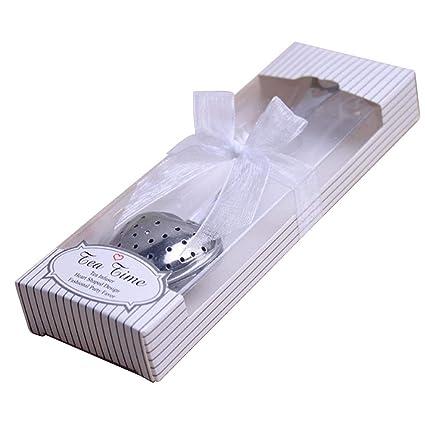 Amazon.com  50pcs Stainless Steel Love Heart Tea Infuser Tea ... 387ddb53dfcd