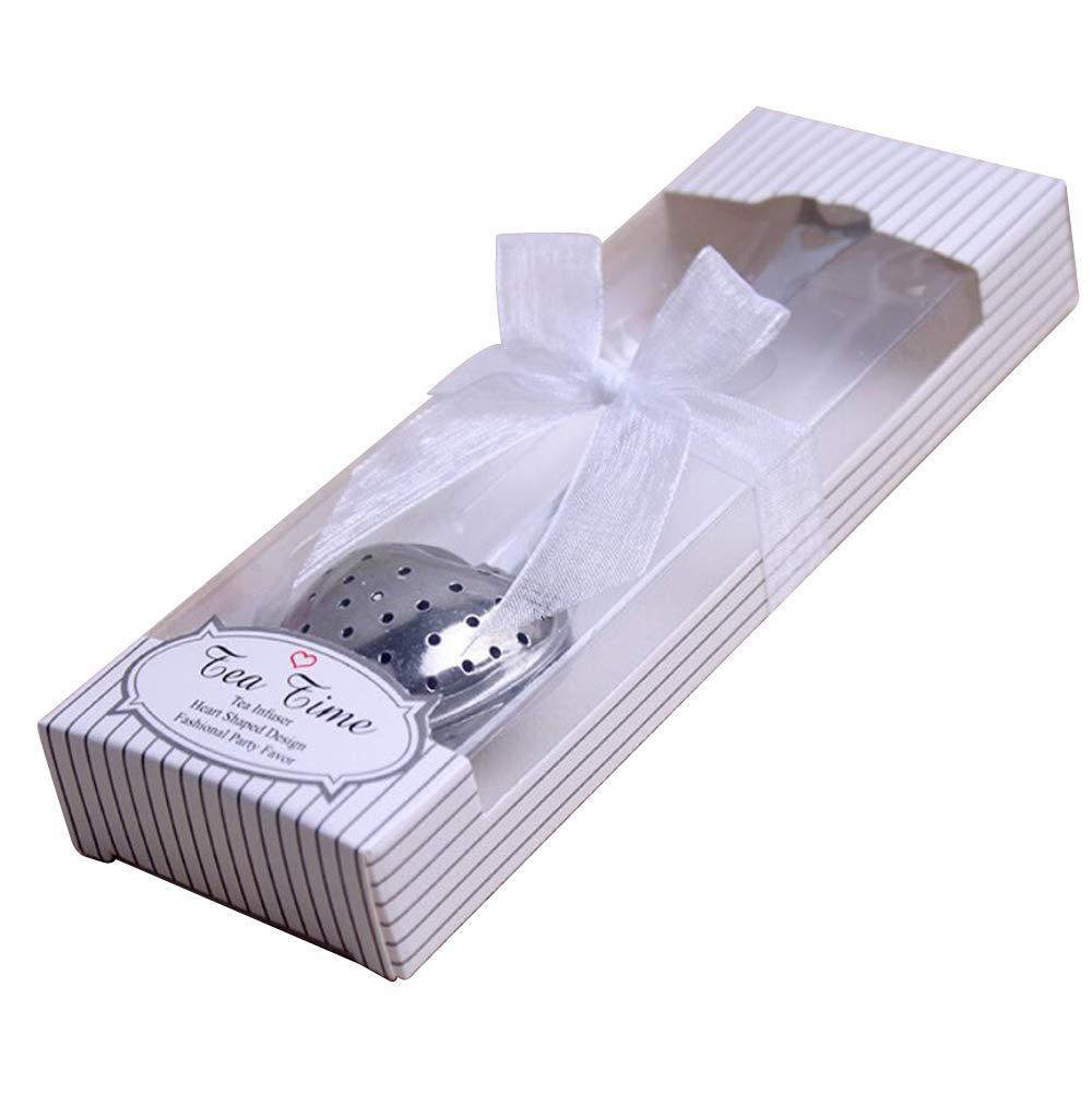 36pcs Stainless Steel Love Heart Tea Infuser Tea Strainer Filters For Wedding Favor