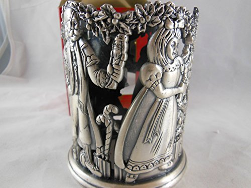 Home for the Holidays Christmas Pewter Votive Tealight Candle Holder Nutcracker # FS284 May Department Stores 1995 by May Dept Stores (Image #2)