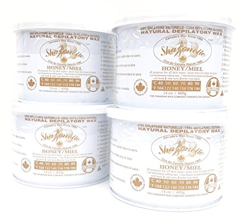 Sharonelle Natural Soft All Purpose Honey Wax in 14 oz. – 4 cans