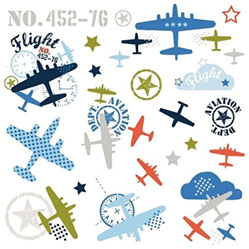 Aviation Decal - Lunarland ZUTANO AVIATION Wall Decals Airplanes Jets Planes Clouds Room Nursery Stickers