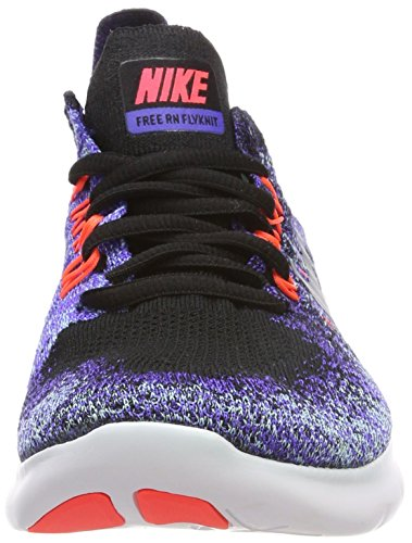 28bd9eab7843 new zealand nike womens free rn flyknit 2017 running shoe black metallic  silver persian violet cheap