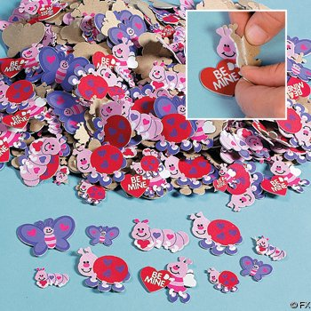 500 VALENTINE LOVE Bug HEART FOAM STICKER Shapes/ARTS & Crafts/SCRAPBOOKING Supplies/SELF ADHESIVE/HOLIDAY/VALENTINE'S DAY ACTIVITY
