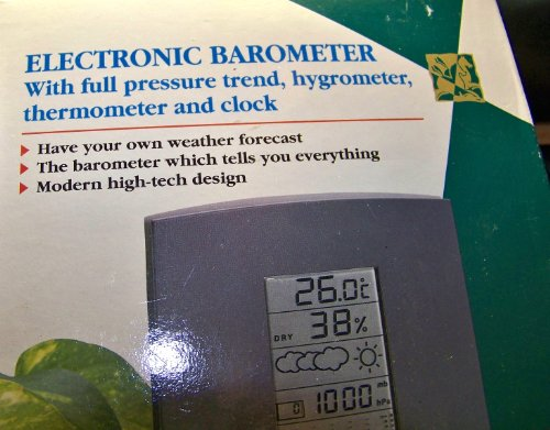 Electronic Digital Barometer ~ Pressure Trend - Hygrometer - Thermometer - Clock ~ Oregon Scientific - Manual Oregon Scientific Clock