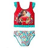 Disney Elena Of Avalor Girls Swimwear Swimsuit (Toddler) (3T, Red/Blue Elena Tankini)