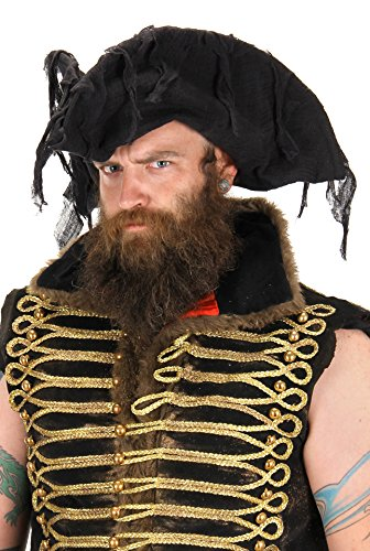 elope Ghost Pirate Costume Hat, Black