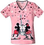 Tooniforms 6772CB Women's V-Neck Scrub Top Minnie L'Amour X-Small