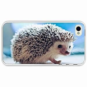 iPhone 4 4S Black Hardshell Case hedgehog eyes needles Transparent Desin Images Protector Back Cover
