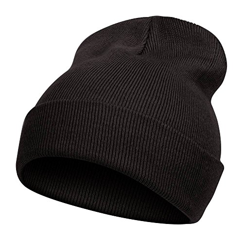 TOP HEADWEAR TopHeadwear Solid Color Long Beanie, Black ()
