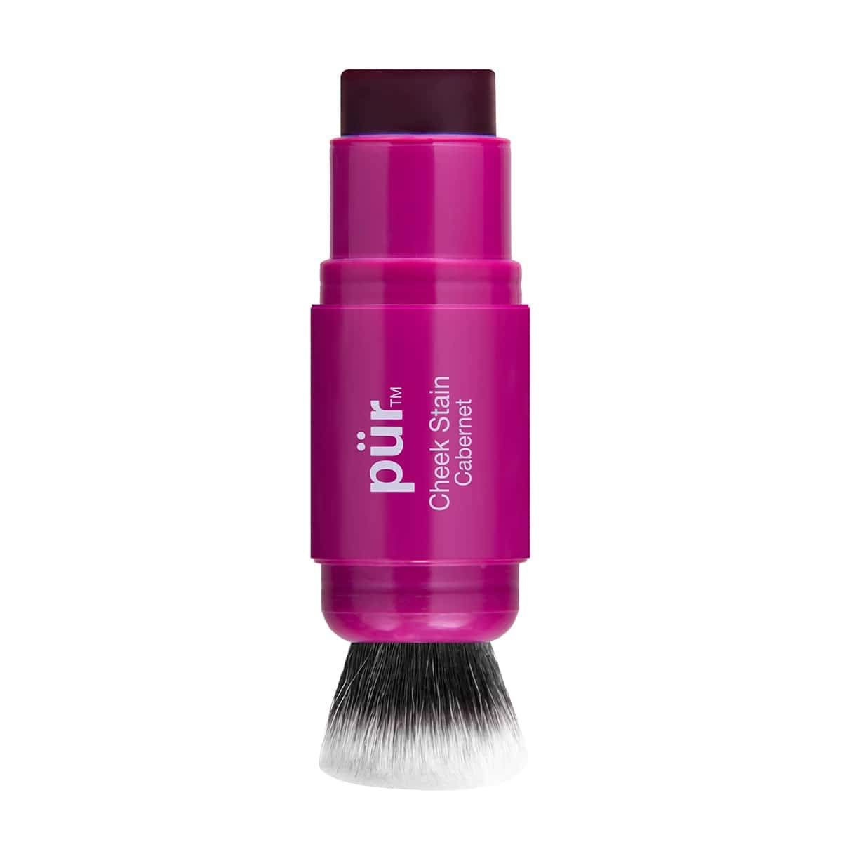 P R Chateau Cheek Stain Blush Tint and Brush Duo in Cabernet, 0.19 Ounce
