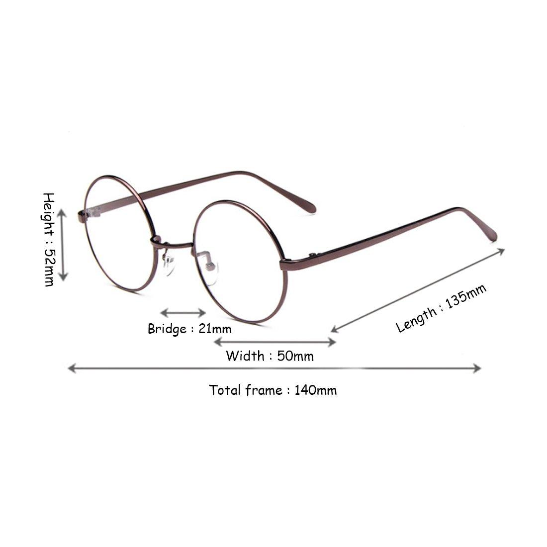Fulision Male Female Circular myopia Glasses frame Fine Frame Retro Glasses by Fulision (Image #4)