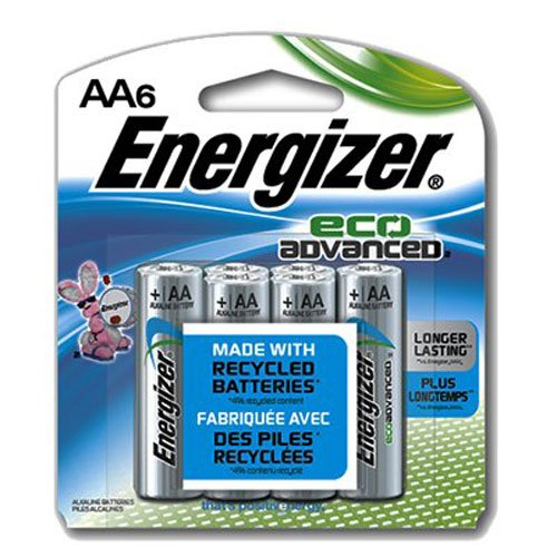 Energizer Eco Advanced Battery AA 6-Count Energizer Canada EVEXR91BP6