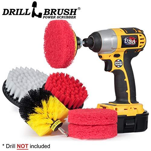 Cleaning Supplies – Bathroom Accessories – Drill Brush – Scouring Pad – Shower Cleaner – Bath Mat – Tile – Bathtub…