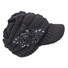 Features:Made of high quality knitting material, very warm and comfortable to wear.Fashion designed caps, enjoy yourselves in the cold winter.The comfortable touch and its fashion design make you charming to be a beautiful view in the winter....