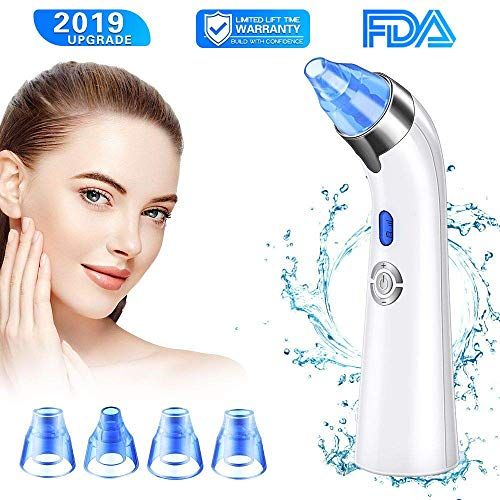 【New Version】Blackhead Remover Vacuum - Facial Pore Deep Cleaner Electric Acne Comedone Extractor Kit with Latest Vacuum Technology,Power Suction & Function Heads, Perfect for Skin Treatment (blue)