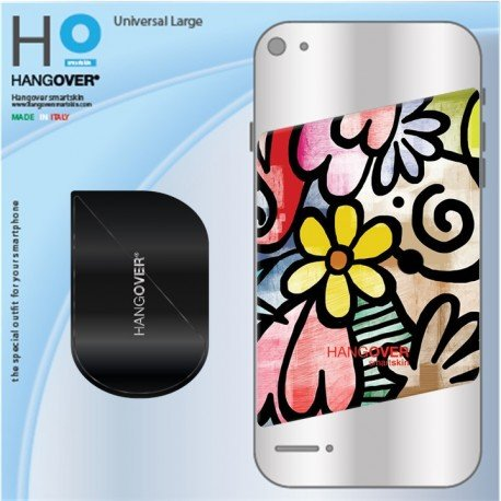 2 cover skins - Adhesion Kit - abstract flower - misura UNIVERSAL LARGE