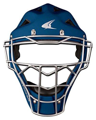 Champro Sports Rubberized Matte Finish Pro-Plus Catcher's Hockey Style Headgear, Navy, 7-7 1/2