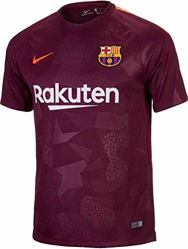83587afc2 Nike Mens FC Barcelona 2018 Breathe Third Soccer Jersey (X-Large) Night  Maroon