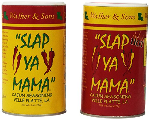 Slap Ya Mama Cajun Seasoning Original & Hot Blend 8 oz Two Pack