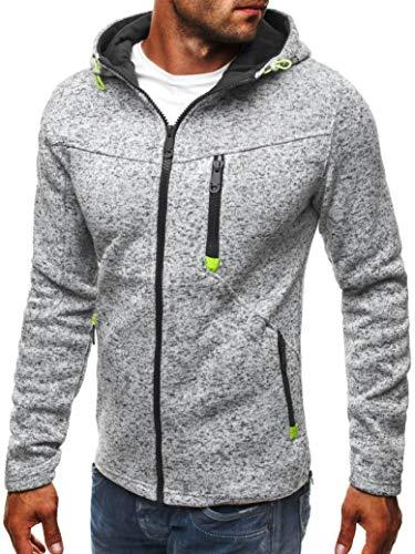 Men's Hoodies, FORUU Hoody Zipper Slim Sweatshirts Pullover Coat Jacket