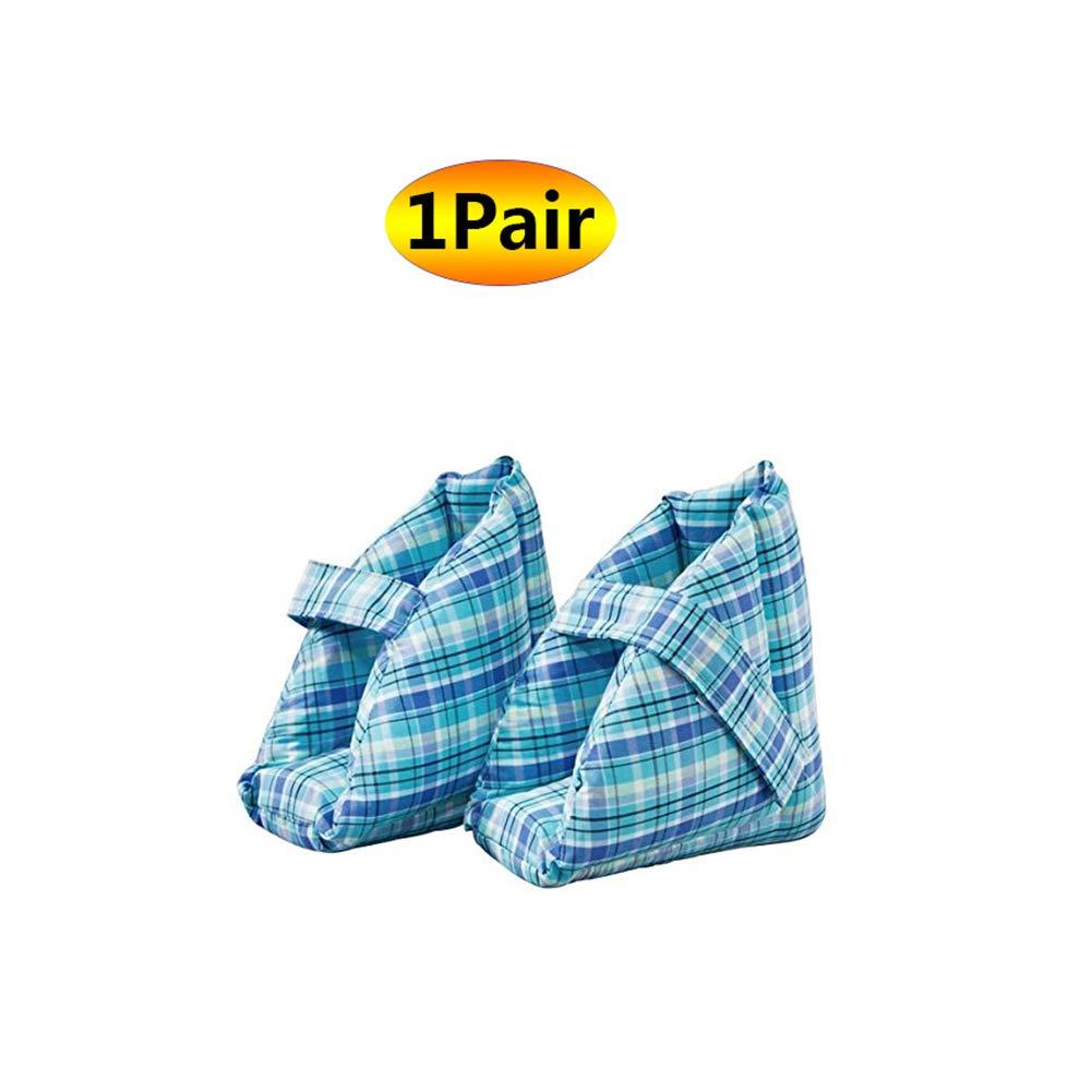 ソフト慰めヒールプロテクター枕、ヒールフロートヒールプロテクター、高齢者の足補正カバー - ブルー B07SBM32HN