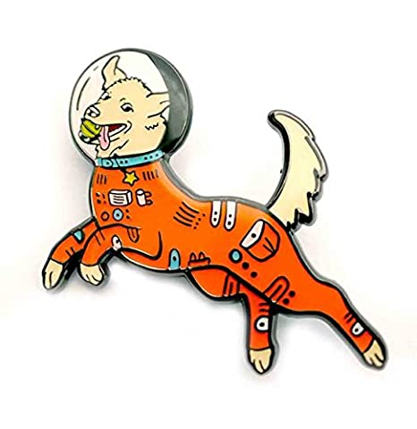 Amazon com: Compoco Dog Enamel Pin Astronaut Puppy in a
