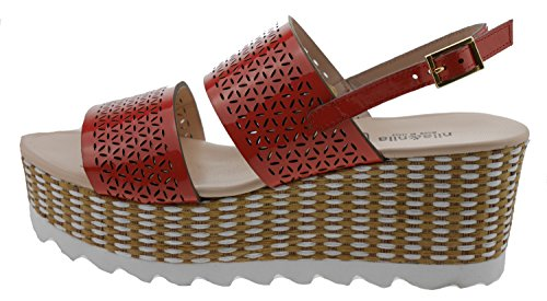 NILA Women's Fashion Sandals Orange salmone pKYa9e
