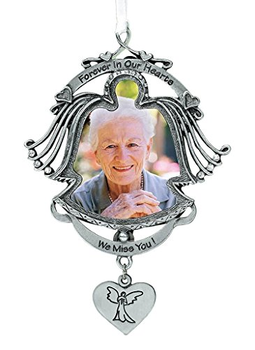 Pewter Angels Ornaments (Cathedral Art 'Forever in Our Hearts' Angel Photo Frame - Memorial Ornament, 3-1/2-Inch)