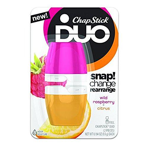 ChapStick Duo Blister Card, Citrus/Wild Raspberry, 0.44 Ounce