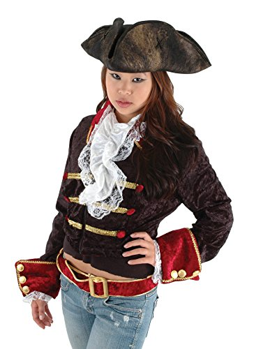 Hat Scallywag (UHC Tricorn Captain Jack Sparrow Scallywag Hat Halloween Costume Accessory)