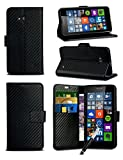 xiaomi red rice note - MobiBax For Xiaomi Red Rice Note 4X - Black Textured Carbon Fibre Effect Professional Style Luxury Wallet Flip Skin Case Cover With Retractable Capacitive Stylus Touch Screen Pen