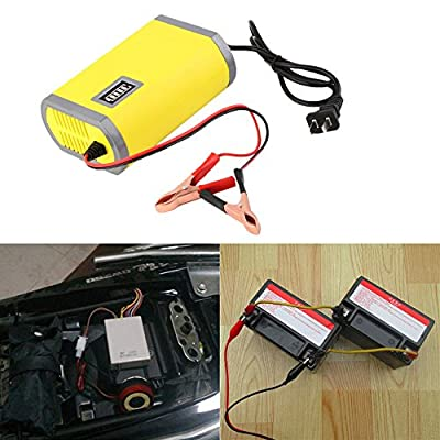 New Portable Adapter Power Supply 12V 6A Motorcycle Car Auto Battery Charger US Plug Intelligent Charging Machine