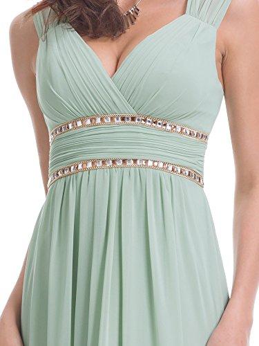 08697 Ever V Abendkleid Mintgrün1 Damen Lang Elegant Pretty Ärmellos Ausschnitt qBBwv8