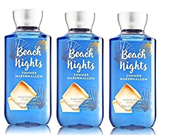 Bath and Body Works Beach Nights Summer Marshmallow Shower Gel Full Size Lot of 3