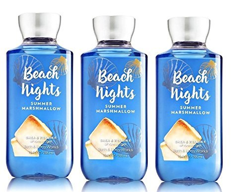 Bath and Body Works Beach Nights Summer Marshmallow Shower Gel Full Size Lot of 3 ()