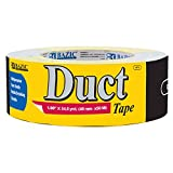 """BAZIC 1.88"""" X 60 Yards Black Duct Tape (Case of 12)"""