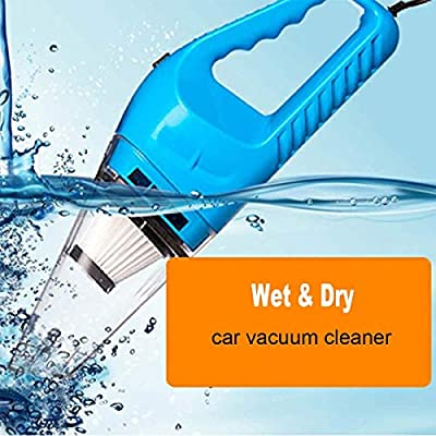 12v Handheld Car Vacuum Cleaner VC360, Portable Carpet Cleaner for Car 120W 4000pa with Cigarette Plug Cleaning Pet Hair, Soot, Bread Crumbs and etc - Blue: Home & Kitchen
