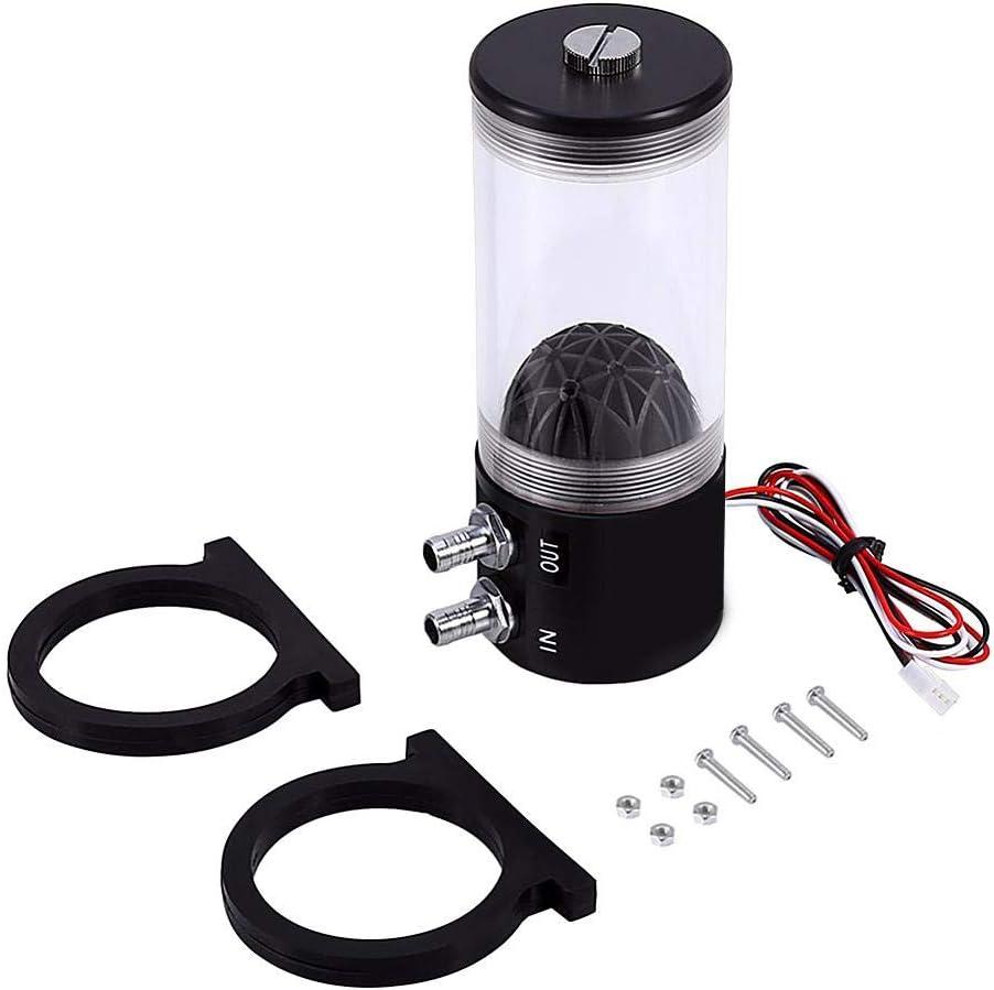 ROBTLE 500L//H CPU Cooling Pump Tank 10W DC 12V CO2 Water Cooler Pump Tank Cooling Heat Exchanger Water Pump Tank