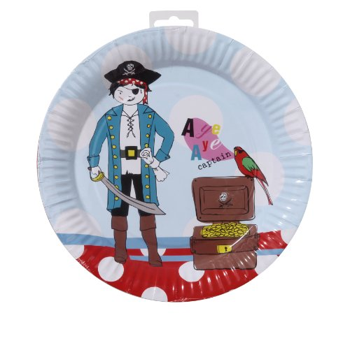 [TALKING TABLES PIRATE PARTY 8-Pack Plate] (Pirate Partyware)
