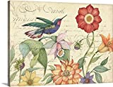 Gallery-Wrapped Canvas entitled Hummingbird Garden by Susan Winget 36''x27''