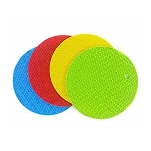 Daixers 4pcs Extra Thick Silicone Trivet Mat, Hot Pads Non-slip Silicone Insulation Mat For Home Use