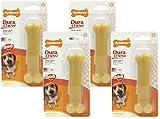 Nylabone Dura Chew Original Flavored Bone Dog Chew Toy- Wolf/Medium (4 Pack) For Sale