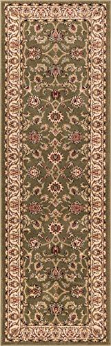 Green Persian Runner - Noble Sarouk Green Persian Floral Oriental Formal Traditional Rug 3x10 ( 2'7