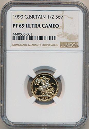 1990 UK Half Sovereign Proof Half Sovereign Proof PF69 Ultra Cameo NGC